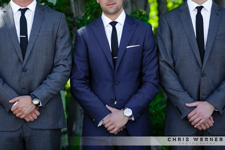 Lake Tahoe Wedding Suits and Tuxedos for Grooms and Groomsmen