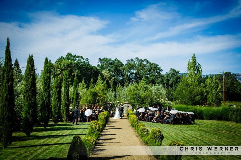 Napa Valley wedding at a private estate.