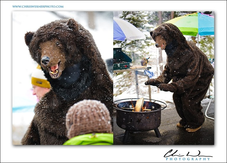 Lake Tahoe bear attends BBQ party