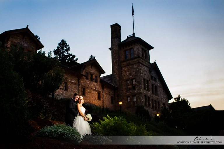 Culinary Institute of America Wedding photo of bride and groom.