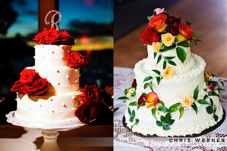 Red rose wedding cake ideas.