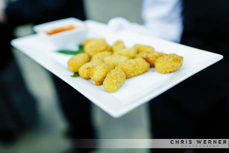 Tater tot wedding appetizer idea.
