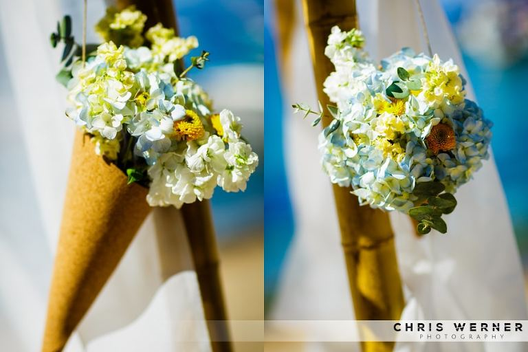 Yellow. wedding chuppah flowers.