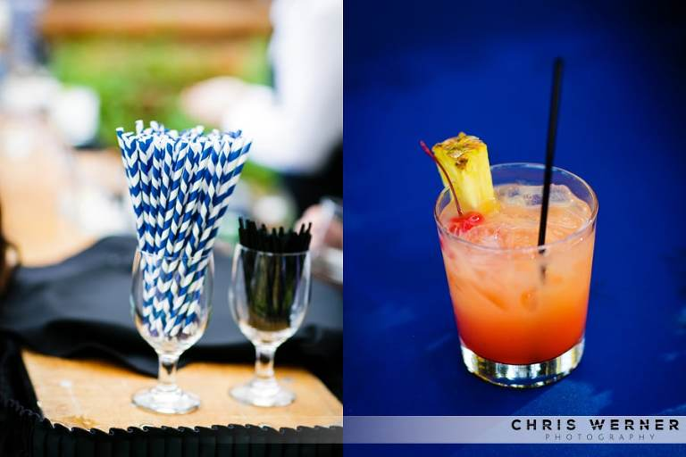 Colorful wedding drink ideas.