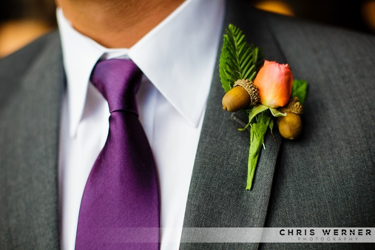 Pink ties for grooms.