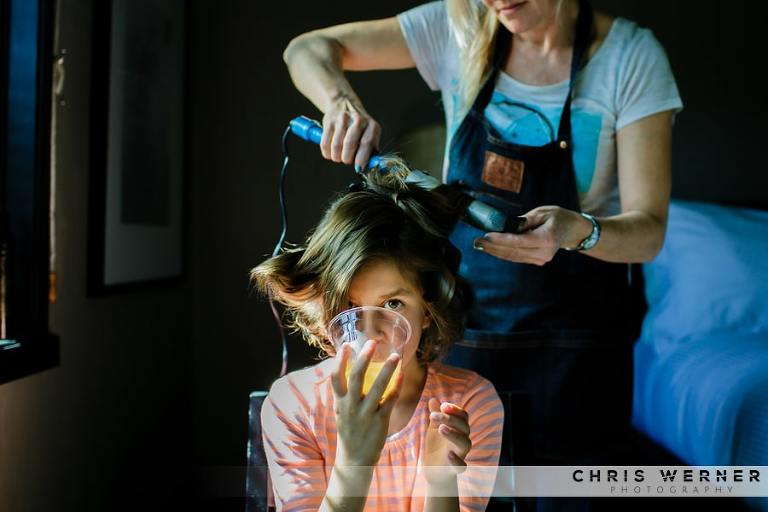 Lake Tahoe wedding hair stylists for a PlumpJack Squaw Valley wedding.