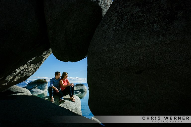 North Lake Tahoe engagement photos near Tahoe City.