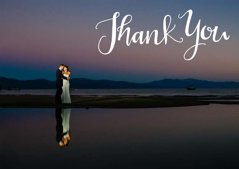 Thank you cards for a wedding