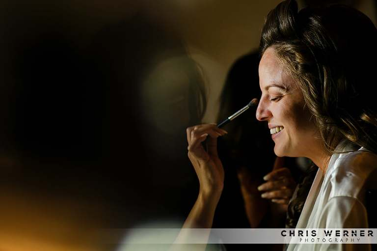 Wedding hair makeup at a Hyatt Lake Tahoe wedding