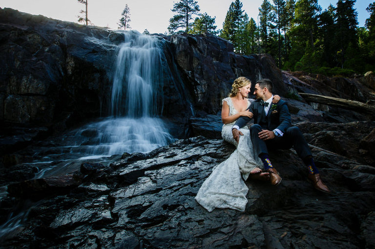 Fallen Leaf Lake Wedding Photo