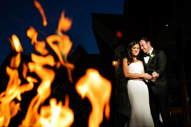 This love is on fire. Bride and groom portrait.