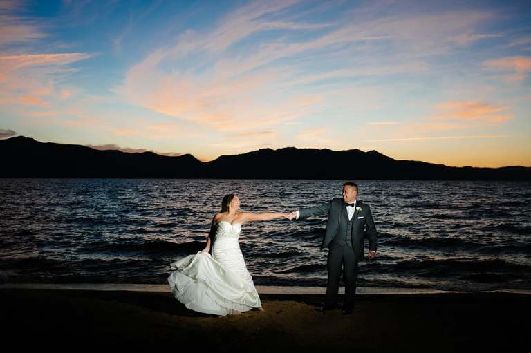 Don't miss sunset photos during your Edgewood Tahoe wedding!
