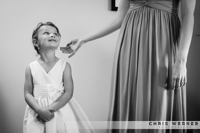 Flower girl dress idea from a West Shore Cafe Wedding in Lake Tahoe.
