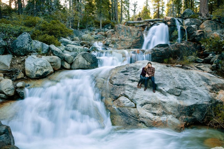 Shirley Canyon is a great location for Lake Tahoe engagement photos!