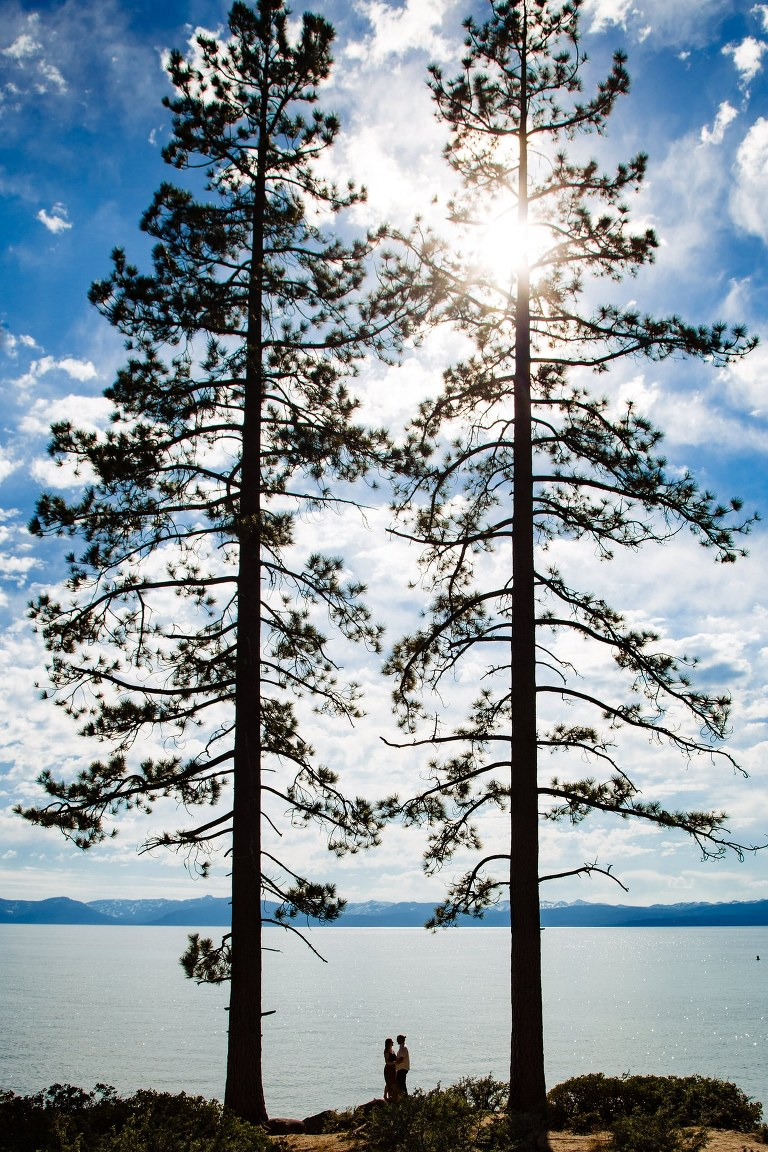 Your outdoor Lake Tahoe engagement photos should show the natural beauty of the mountains.