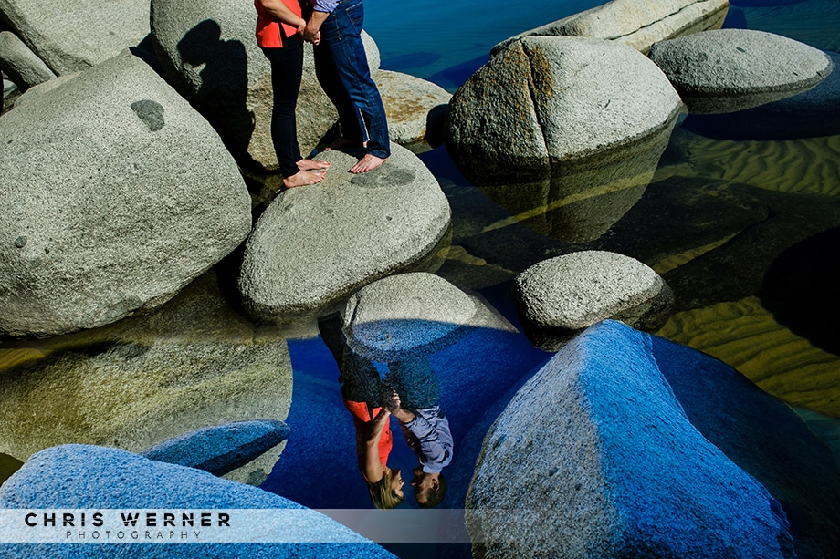 North Lake Tahoe engagement photos from a Tahoe wedding photographer.