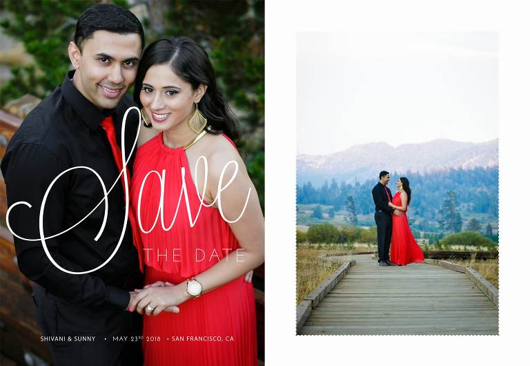 Save the date cards sample design
