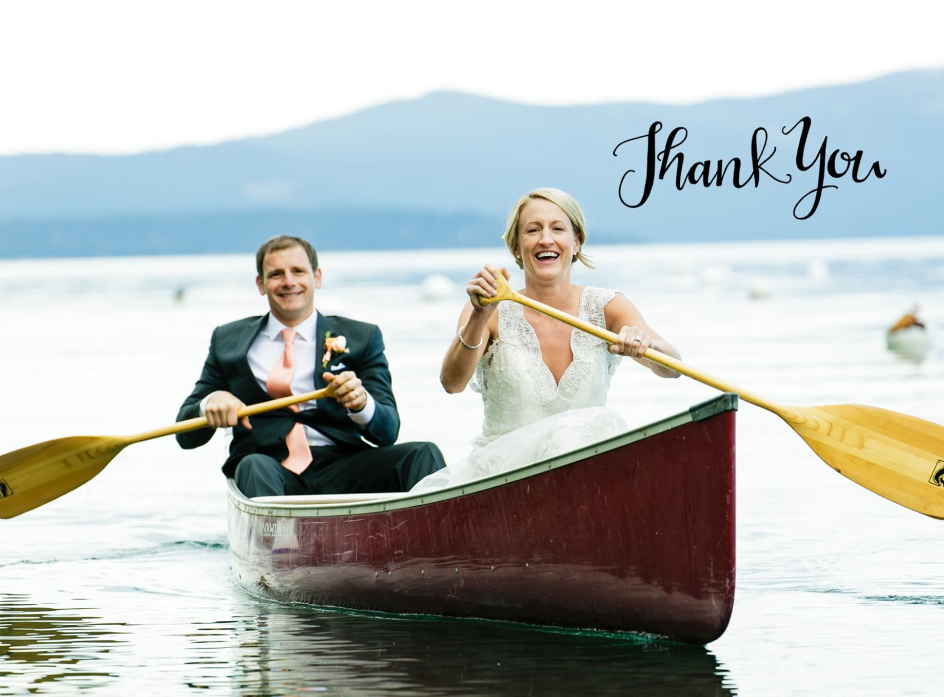 Thank you cards idea for a wedding photo