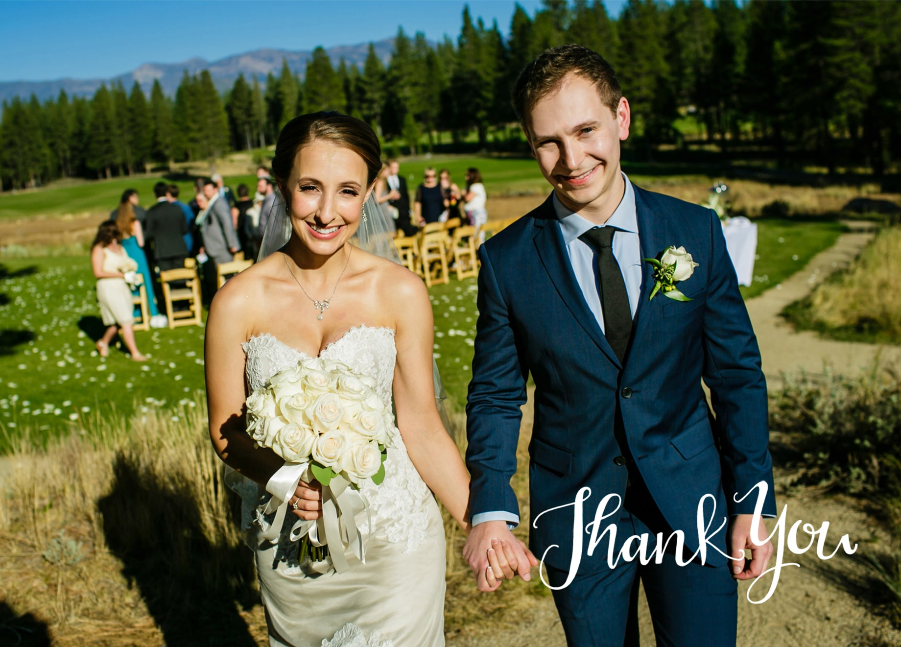 Thank you cards design idea for wedding photos