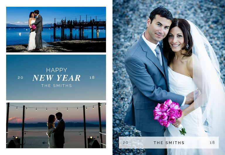 New Year's card ideas for Tahoe weddings