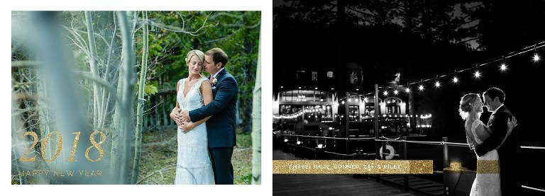 New Year's card ideas from a Lake Tahoe wedding
