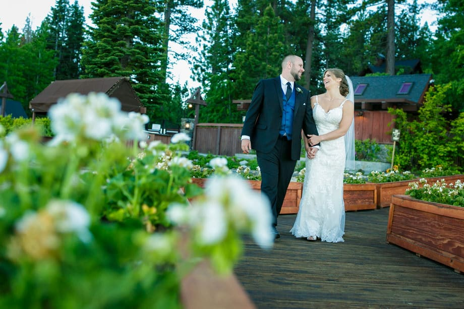 Bride And Groom At Chambers Landing Lake Tahoe