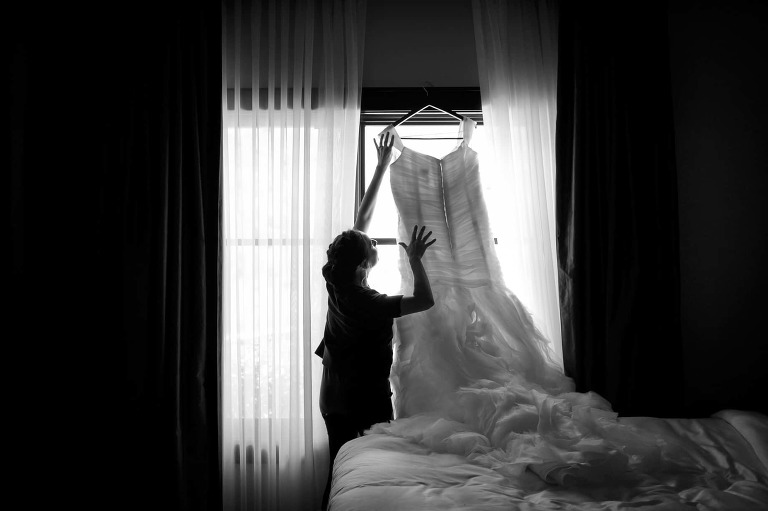 Most Ritz Carlton Tahoe brides and their wedding party get ready for the wedding in their hotel rooms.