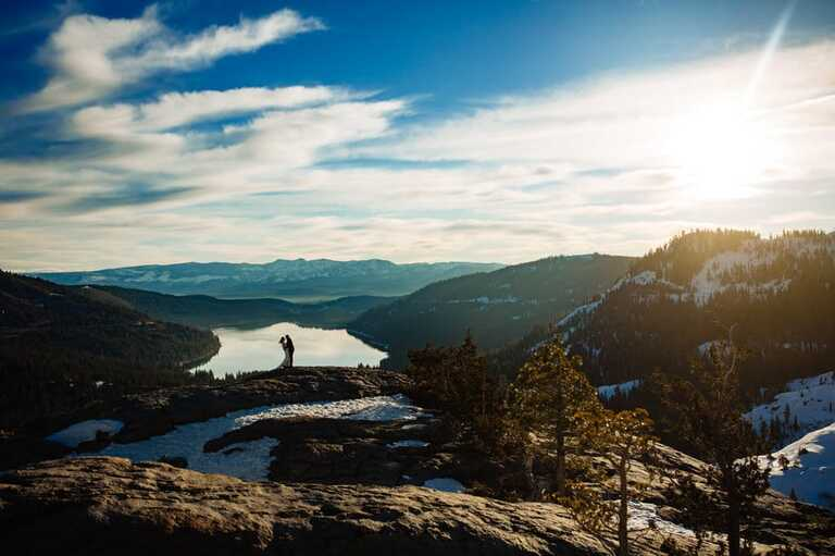 Lake Tahoe is a beautiful place to elope in California.